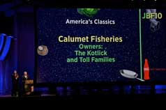 Mark Kotlick accepting the American Classic Award